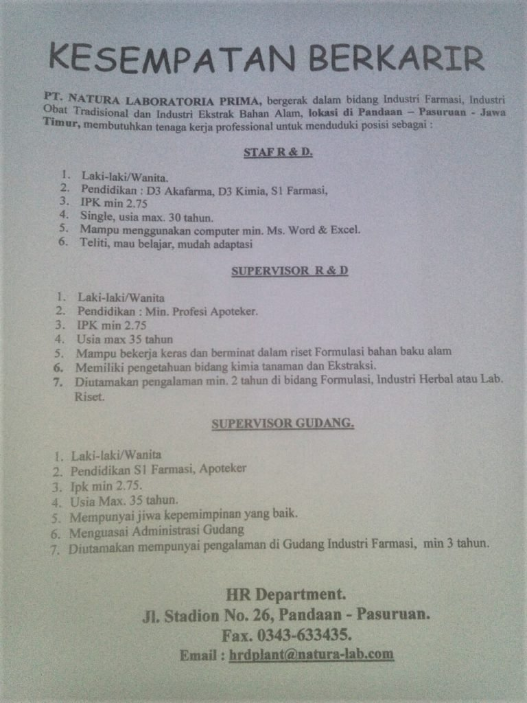 Lowongan Pekerjaan Universitas Ahmad Dahlan